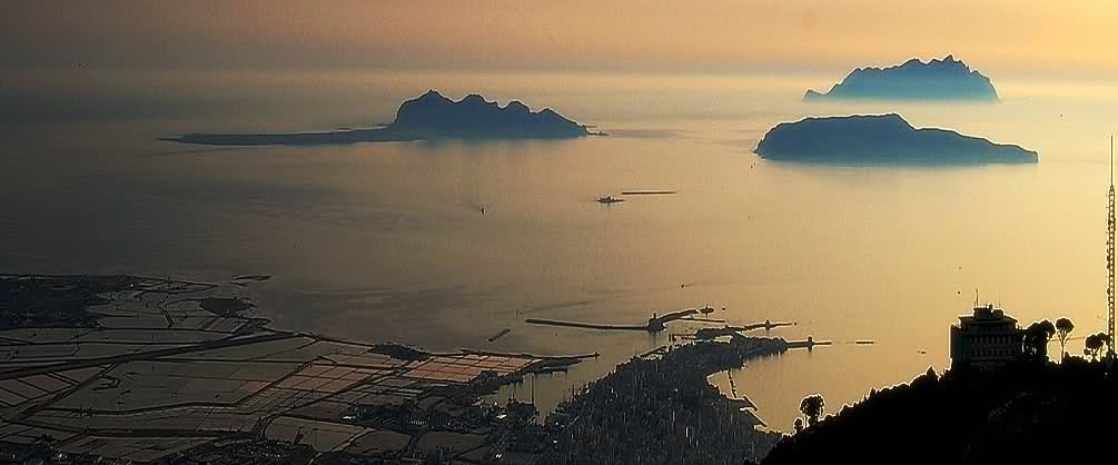 Isole Egadi al tramonto